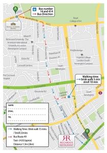 Post Card με χάρτη οδηγιών
