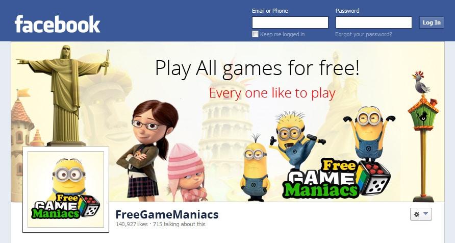 Facebook Cover Image για το FreeGameManiacs