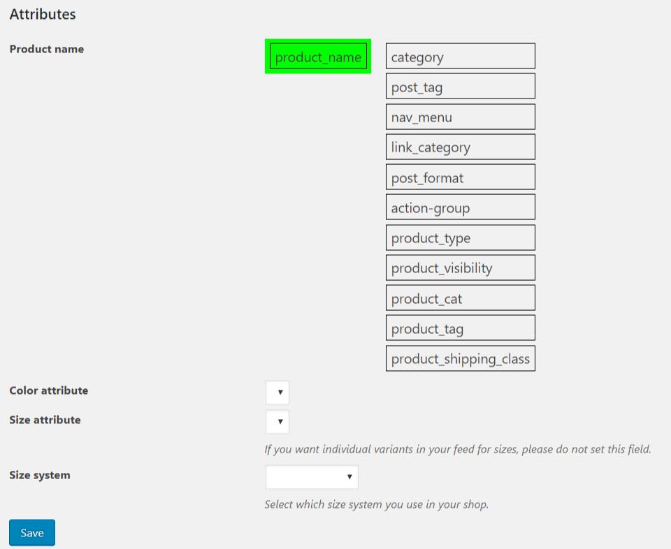 WP Woocommerce XML Feed για Skroutz.gr και bestprice.gr Attributes