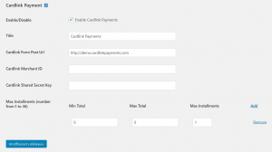 WP Woocommerce Alpha Bank e-commerce Plugin Settings